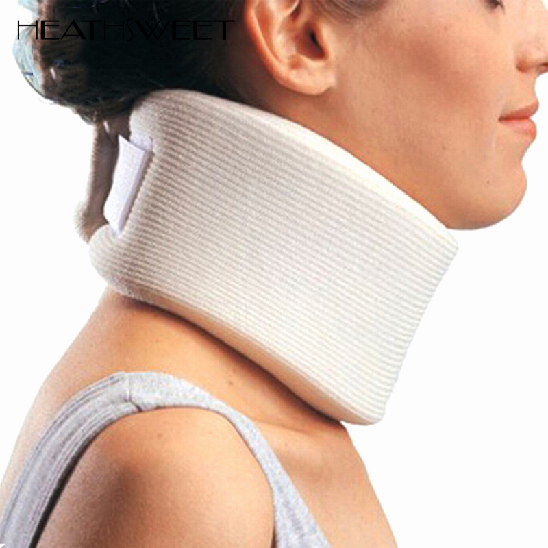 Healthsweet Medical Care Soft Firm Foam Cervical Collar Traction Neck Brace Support Massager Shoulder Relaxation Pain Relief medical neck support orthosis adjustable cervical collar device fixed traction braces vertebra rehabilitation head protection
