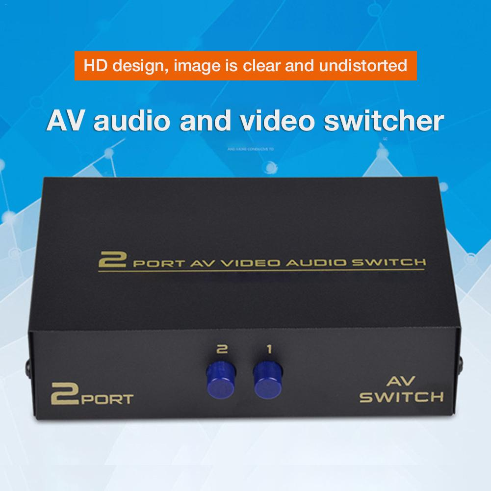 DVD החלף AV חדש Box 2 ב 1 מתוך AV Audio Video Signal מרוכבים עבור HDTV LCD DVD 3 RCA Switcher 2 כדי 1 בורר לא Splitte (1)