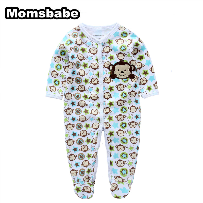 Newborn Baby Rompers Baby Clothing 100% Cotton Infant Jumpsuit Ropa Bebe Long Sleeve Girl Boys Rompers Costumes Baby Romper sr118 baby rompers 2016 spring newborn cotton pajamas clothes bebe long sleeve hooded romper infant overall boys girls jumpsuit