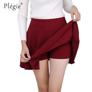 Image 2 - Plegie M 5XL Skirts Womens Plus Size Tutu School Short Skirt Pants Suitable For The Whole Year Mini Saia High Waist Faldas Mujer