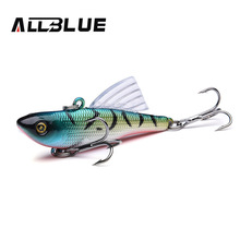 ALLBLUE Multicolor Fishing Lure 10g 55mm Sinking Wobbler VIB Hard Artificial Bait Vibration Variable Depth Ice Fishing Tackle
