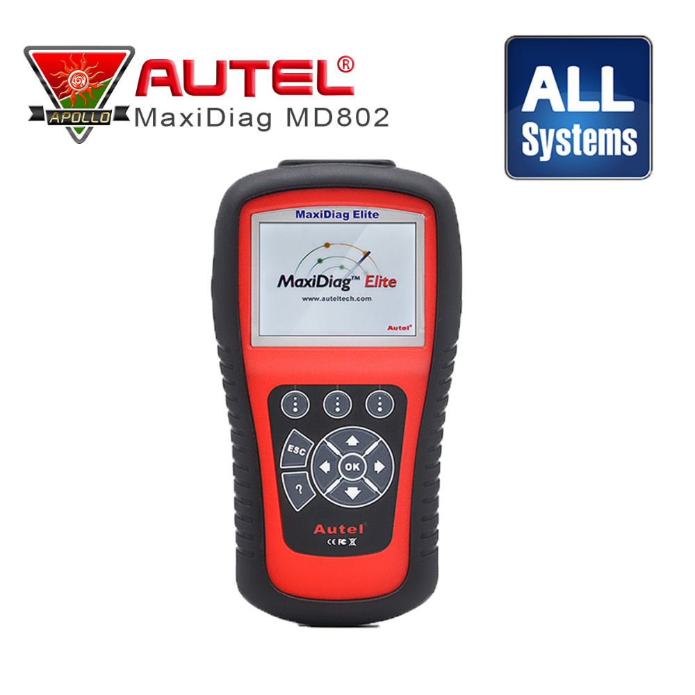 цена на 100% Original Autel Maxidiag Elite MD802 Pro all system + DS model MD802 PRO (MD701+MD702+MD703+MD704) Scan Tool DHL Free Ship
