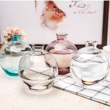 Modern Transparent colorful  Ball Shape Glass Vase Hydroponics containers tabletop small vases Wedding Home Decor europe multicolor glass vase gray stripe transparent glass vases tabletop flower pot hydroponics containers home decoration