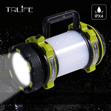 Portable LED Camping Lantern, USB Rechargeable, 2600mAh Power Bank,Super Bright Flashlight,Spotlight,Searchlight for Hiking стоимость
