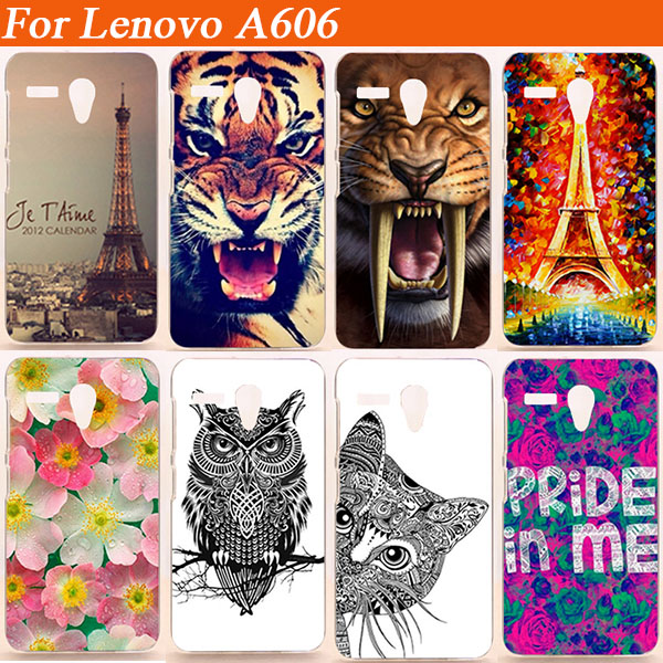 14 Muster Neueste Luxus Hard PC Back Cover Hülle für Lenovo A606 ein 606 Handy Fashion Painted Design Cases