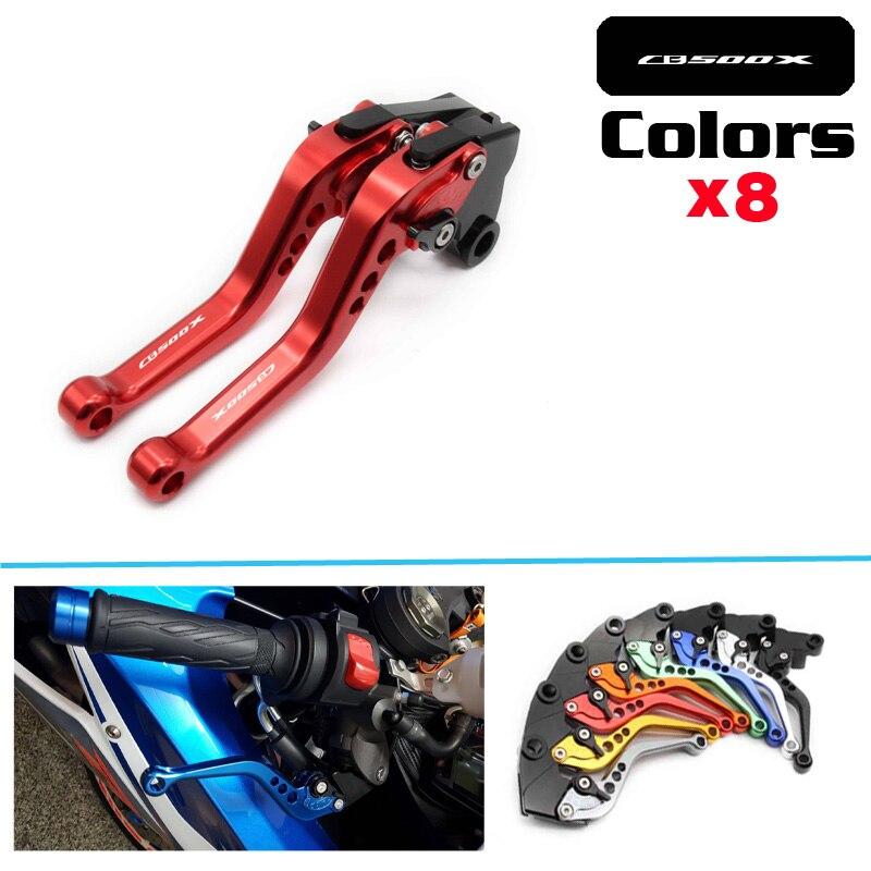 Motorcycle Accessories Short Brake Clutch Levers For HONDA CB500F CB500X CB 500F 2013 2014 2015 2016 LOGO CB500X