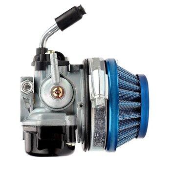 Filtro de aire para Motor de bicicleta, carburador de Motor para 37, 50, 80CC y 2 tiempos, conjunto para Moto Mini de 47cc y 49cc, ATV, Moto de cross Pocket