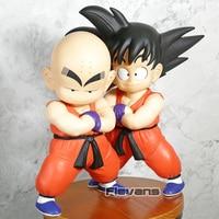 Dragon Ball Z Son Goku + Krillin Child Ver. Big Size PVC Figures Collectible Model Toys 2pcs/set