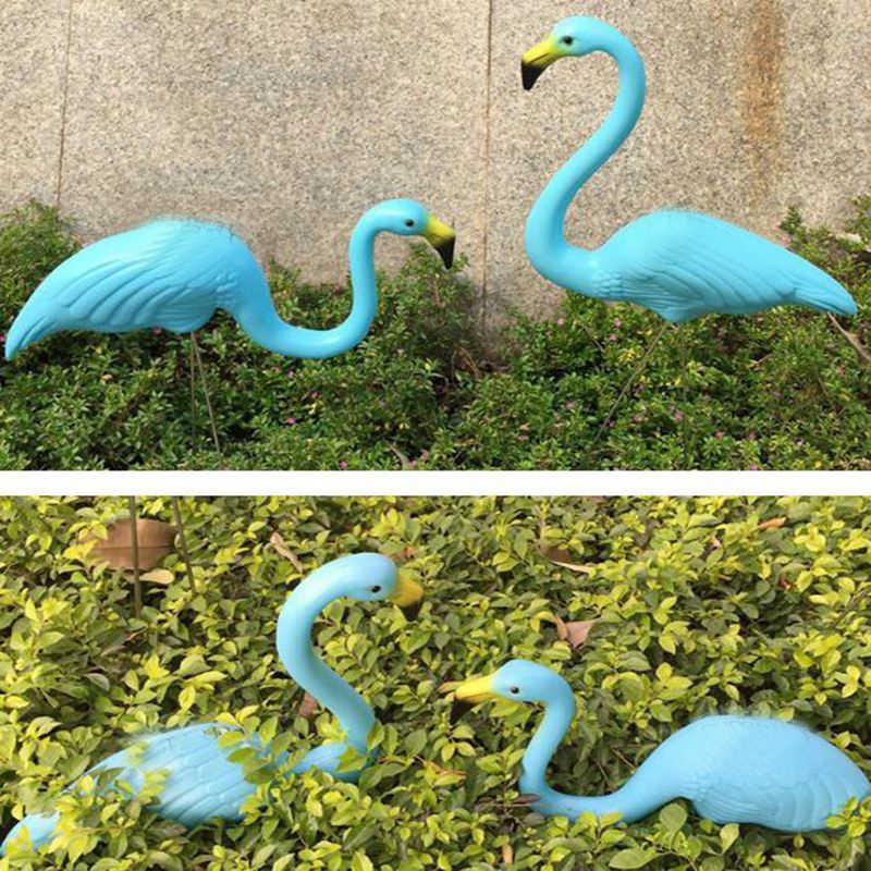 2PCS Outdoor Plastic Simulation Artificial Flamingo Decoration For Garden Festival Party Wedding Villa Gardening Decor Ornaments