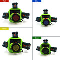 Led Headlight Solar Rechargeable Headlamp Flashlight Head Torch Linterna 3 Modes XPE LED 4 Colors Lights with AC/Car Charger