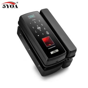 Image 5 - Glass Fingerprint Lock Digital Electronic Door Lock For Home Anti theft Intelligent Password RFID Card Standalone Opener Smart