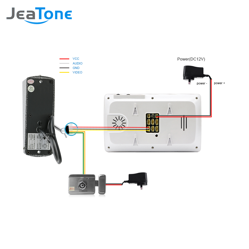 Купить с кэшбэком 4 inch 1200TVL Home Video Doorbell Monitor Door Phone Video Intercom Door Intercom Night Vision Camera Security System Kit