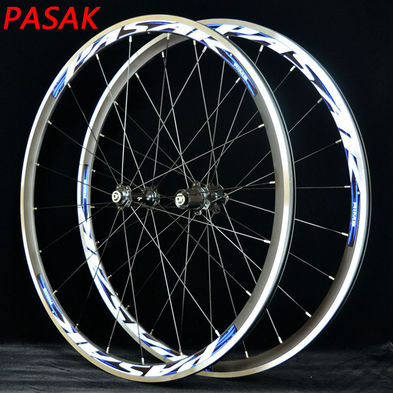 все цены на PASAK 700C road bicycle wheels super light sealed bearing aluminum alloy road wheelset bicycle wheels