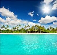 Обычай росписи пейзаж, Пляж настенные для гостиной спальня тв стены фон водонепроницаемый обои