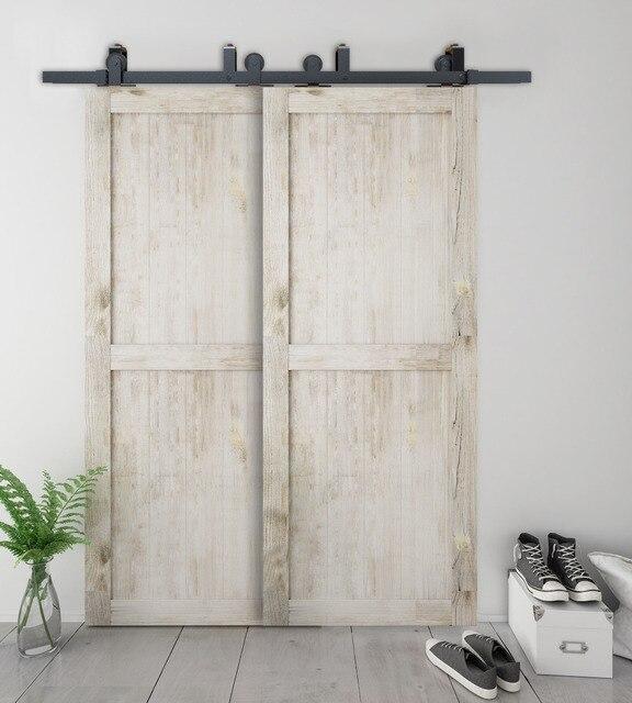 Tür montieren  Aliexpress.com : DIYHD bypass schiebe barn holz tür hardware top ...
