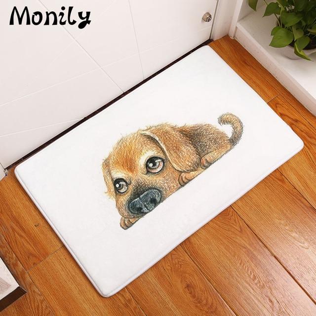 Monily Anti Slip Floor Mat Waterproof Cartoon Paint Animals Cow Dog Carpets Bedroom Rugs Decorative