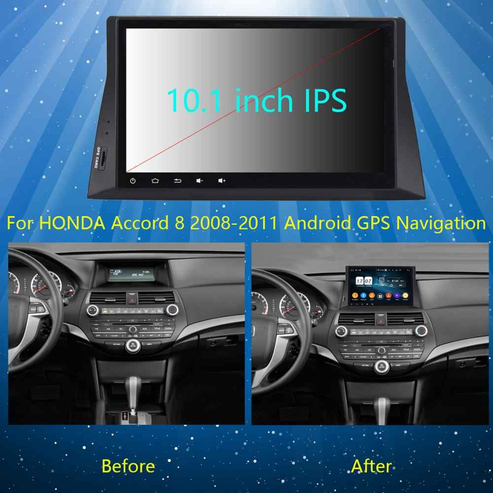 "10.1 ""Ips 8Core 4G + 64G Android 9.0 Auto Dvd-speler Voor Honda Accord 8 2008 2009 2010 2011 2012 2013 Gps Radio Dsp Carplay Papegaai"