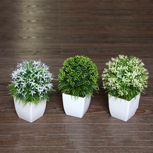 Bottle+flowers Simulation of plant simulation of potted plant simulation factory wholesale green potted bonsai plants. quality