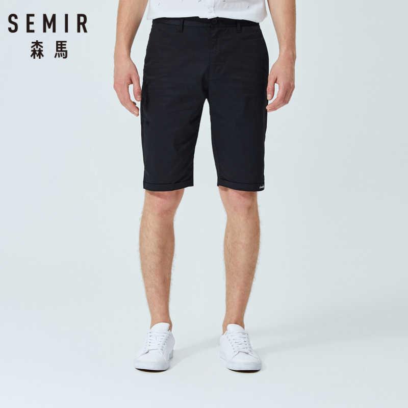 SEMIR กางเกงขาสั้นสบายๆ 2019 ฤดูร้อนใหม่ชายหาดกางเกงที่ห้าสีทึบยืดกางเกงแนวโน้มเกาหลีกางเกงขาสั้นผ้าฝ้าย