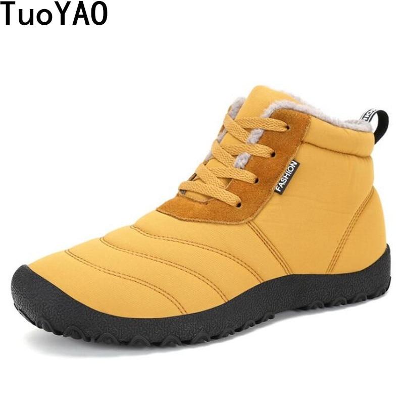 Men Ankle Boots Waterproof Rain Boots Keep Warm Winter Boots Outdoor Men Snow Boots Fashion Men Winter Shoes Masculina Bota