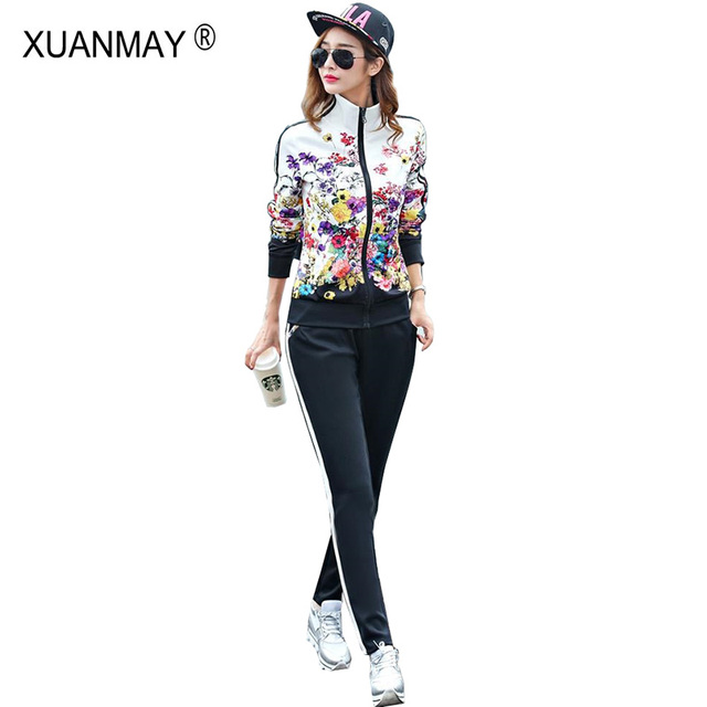 2021 Spring Zipper Cardigan Top and Trousers up and down Two-piece fashion Sweet Maiden long-sleeved Cardigan top Pants suit 2