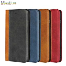hot deal buy makeulike magnetic flip case for iphone xs max iphone xr case dual color pu leather wallet case for iphone x xr xs max cover