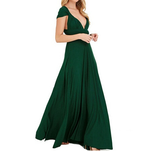 7a8f0c9dad25 Dress Women 2018 Long Summer Convertible Bohemian Dresses Casual Bandage  Evening Prom Club Party Infinity Multiway Maxi Dresses