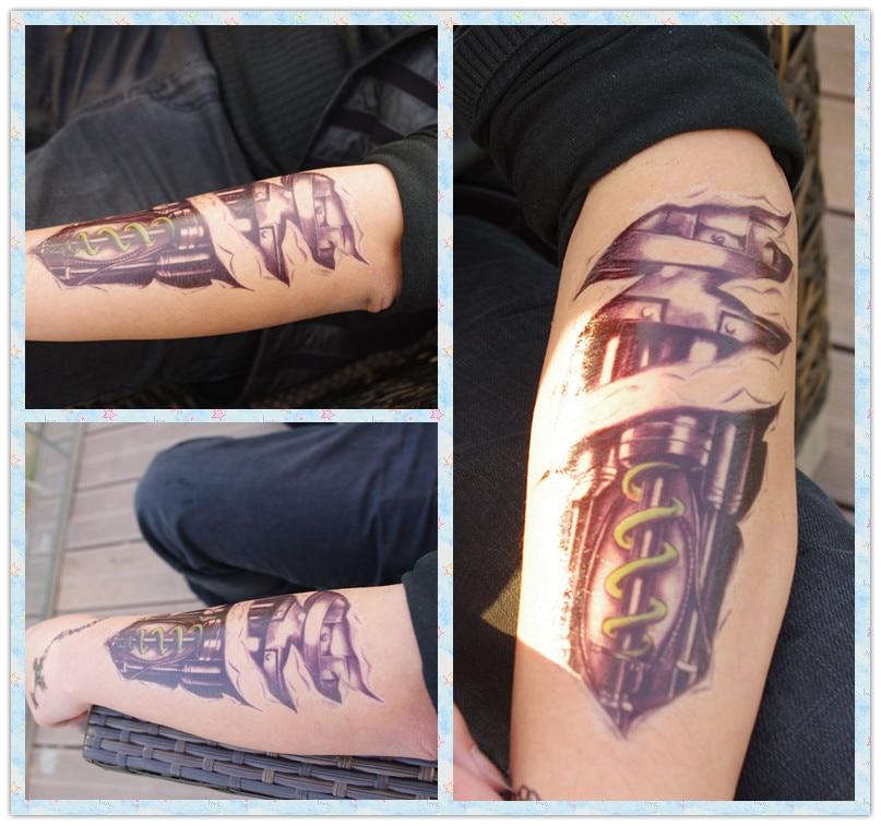 ヾノqc 602nowy 3d Fajne Ramię Maszyny Tatuaż Projekt