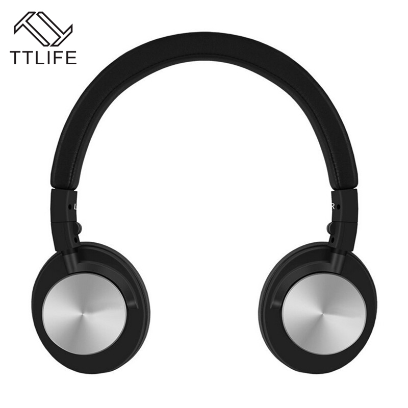 TTLIFE Brand Adjustable Headband On Ear Headset Lightweight Foldable Stereo Headphone with Mic 3.5mm for Smartphones phone