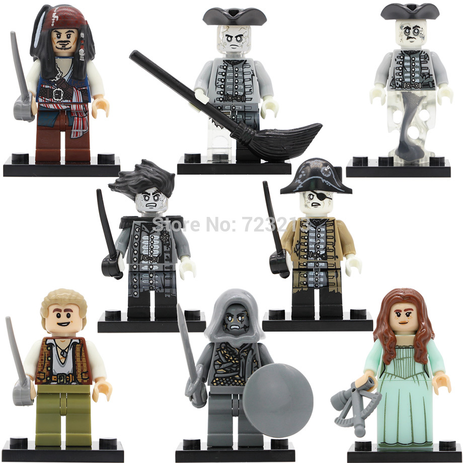 Pirates of the Caribbean Figure Salazar's Revenge Captain Jack Carina Smyth Henry Lesaro Building Blocks Set PG8048 Bricks Toys pirates of the caribbean lesaro captain jack edward mermaid davy jones silent mary carina smith building blocks kids toys pg8048