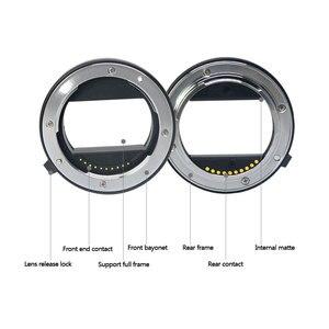 Image 4 - Meike Messa A Fuoco Automatica Macro Tubo di Prolunga Anello Adattatore per Sony E mount NEX3 NEX 5 NEX 7 NEX 6 A7 A7II A7III A6000 a6300 A6400