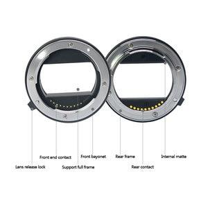 Image 4 - Đế Pin Meike Tự Động Lấy Nét Ống Macro Adapter Ring Cho Sony E Mount NEX3 NEX 5 NEX 7 NEX 6 A7 A7II A7III A6000 a6300 A6400
