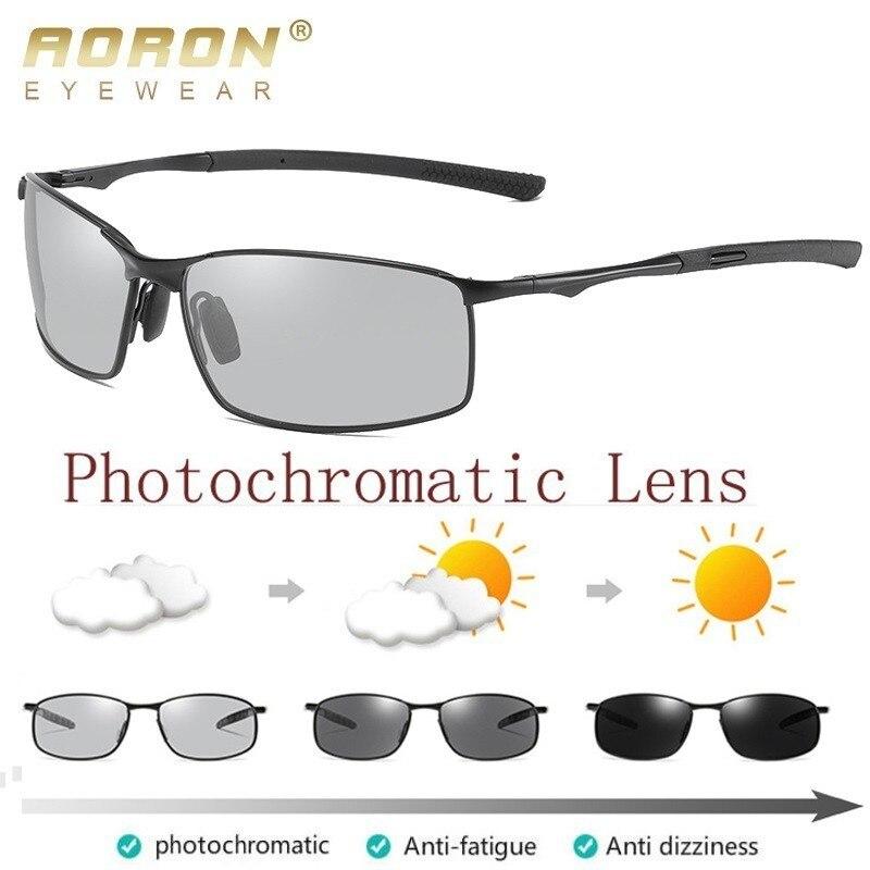 AORON Polarized Photochromic Sunglasses Mens Transition Lens Driving Glasses Male Driver Safty Goggles Oculos Gafas De Sol