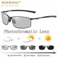Aoron polarizado photochromic óculos de sol dos homens transição lente condução masculino motorista safty óculos de sol