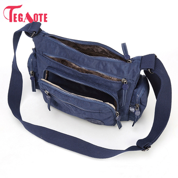 4dfc0129d TEGAOTE bolso de mensajero de nailon para mujer bolsos de hombro bandolera  bolsos de moda para mujer bolsos escolares bolsas saco A