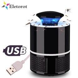 Антимоскитная лампа USB электрическая анти мухи комары Лампа бытовой светодиодный Жук Насекомое ловушка Фотокатализ УФ Ночная лампа