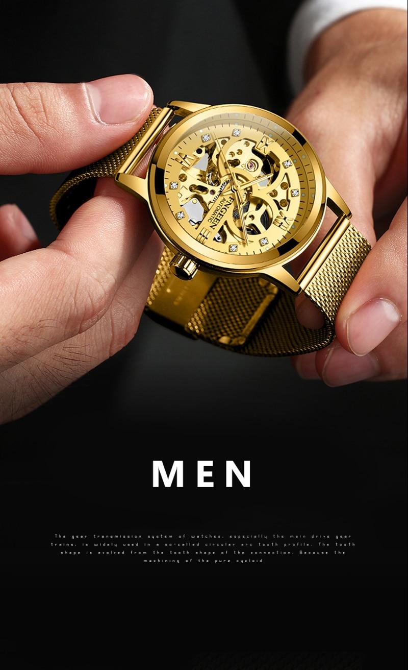 HTB1v927vnqWBKNjSZFAq6ynSpXau Skeleton Watch 2019 New FNGEEN Sport Mechanical Watch Luxury Watch Mens Watches Top Brand Montre Homme Clock Men Automatic Watch