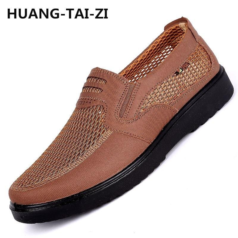 Hommes chaussures 2018 nouveaux arrivants hot mesh respirant Ultra-léger chaussures à lacets hommes baskets printemps confortable hommes vulcaniser chaussures 48