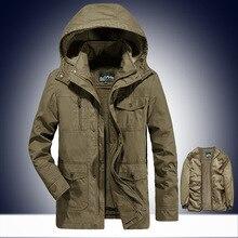 Мужской воротник зимний теплый с капюшоном парки съемная подкладка и шляпа съемные зимние куртки мужские s 195
