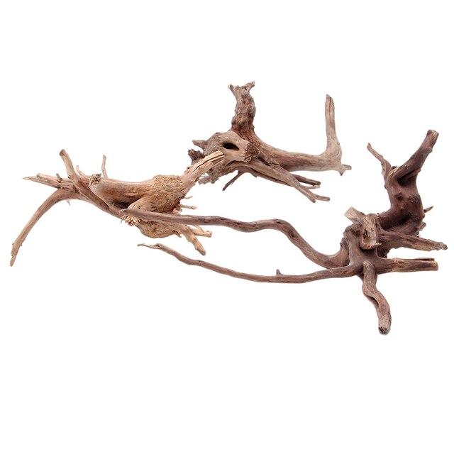 Дерево натуральный ствол дерева дерево Аквариум Fish Tank растение украшение орнамент