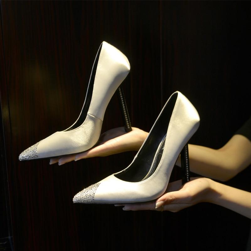 Cristal Zapatos Diamantes Aguja Novia Las Tacones Imitación Bombas rose Seda Superficial black Alto Satén De Boda blue Vestido Tacón Primavera White Decoración Mujeres Punta red La f68CqzOxw