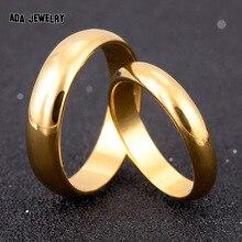 Ее годовщина обещание влюбленных его простые обручальные позолоченные кольца пара изделия