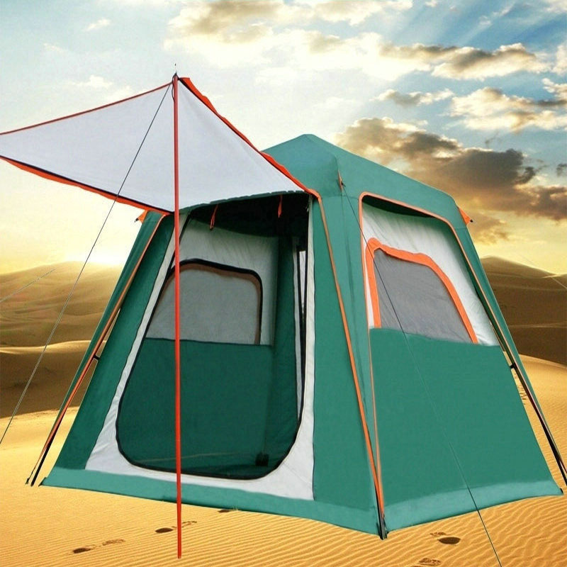 ZHUOAO 3-4 Person Automatic Double Layer 240*210*170CM Waterproof Windproof Outdoor Carpas Be Camping Camping TentZHUOAO 3-4 Person Automatic Double Layer 240*210*170CM Waterproof Windproof Outdoor Carpas Be Camping Camping Tent
