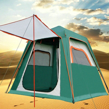 ZHUOAO 3-4 Person Automatic Double Layer 240*210*170CM Waterproof Windproof Outdoor Carpas Be Camping Camping Tent