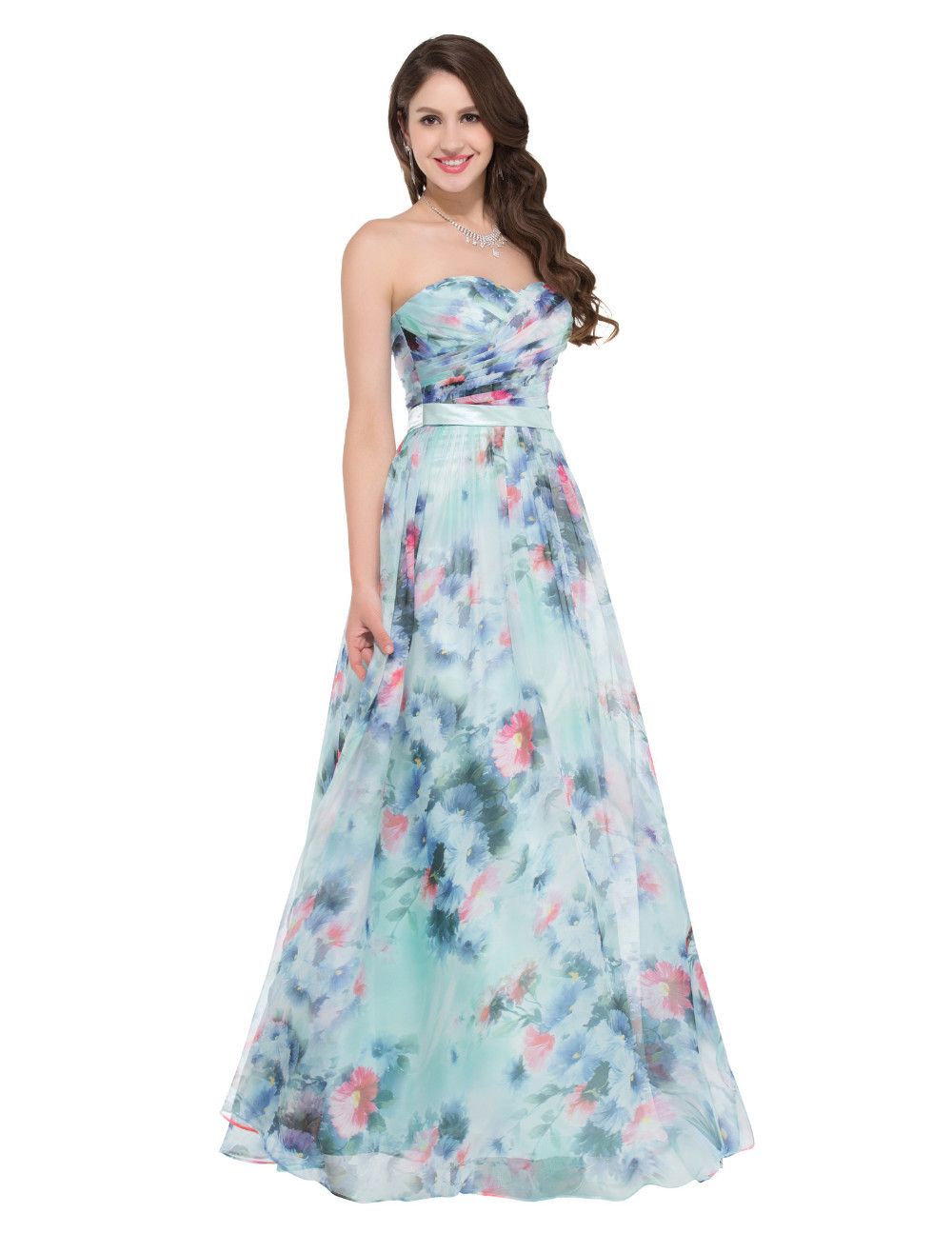 HTB1v92nNpXXXXbOaXXXq6xXFXXXzFloral Print Formal Occasion Floor length Evening Dress
