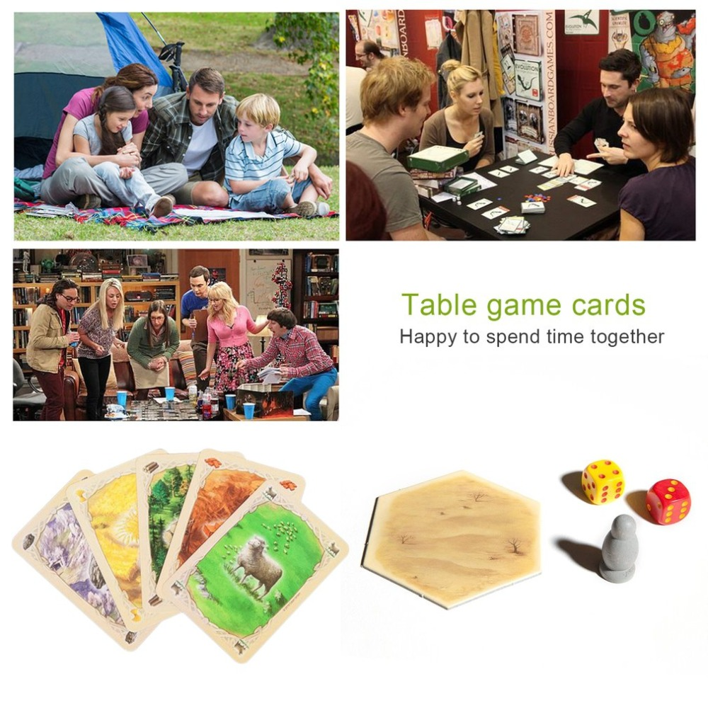 Catan Board Game Family Fun Playing Card Game Educational Theme English Fun Cards Game Indoor Table Party Game spot dobble find it board game for children fun with family gathering the animals paper quality card
