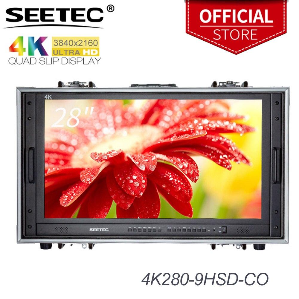 Seetec 4K280-9HSD-CO 28 pulgadas 4 K Monitor Broadcast para CCTV vigilancia haciendo películas Ultra HD llevar en la pantalla LCD Director monitor