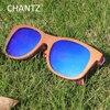 Skateboard Wood Sunglasses For Women And Men Shades Polarized Sun Glasses REVO Mirror UV400 Gafas De