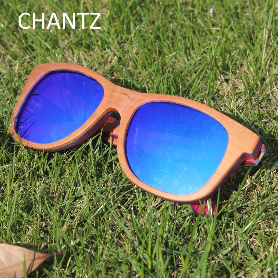 Skateboard lesena sončna očala za ženske in moške polarizirana - Oblačilni dodatki