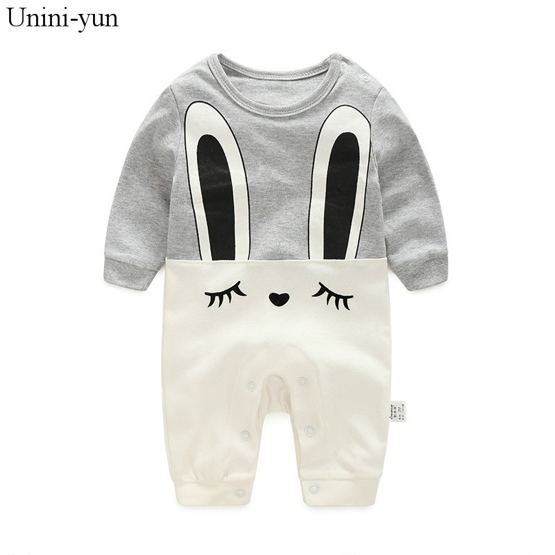 Baby Girl Clothes 2017 New Newborn clothes baby cotton girls romper long-sleeve baby product , baby rompers rabbit gray clothes newborn baby rompers baby clothing 100% cotton infant jumpsuit ropa bebe long sleeve girl boys rompers costumes baby romper